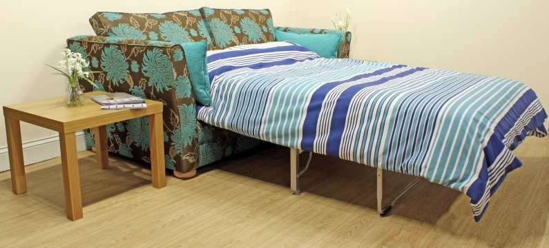 Sofabed quilt turquoise 1